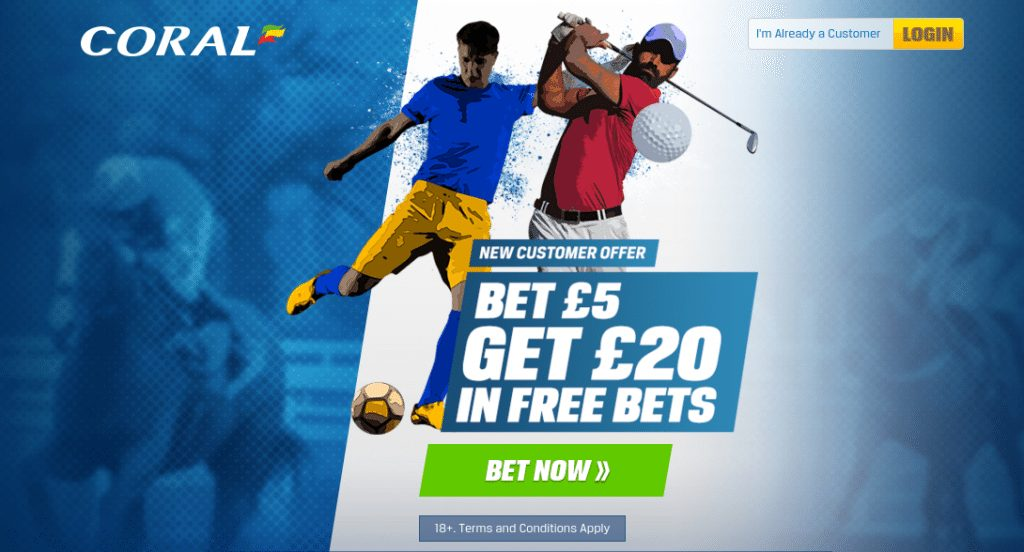 coral free bet offer