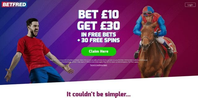 Bet £10 Get £30 with Betfred