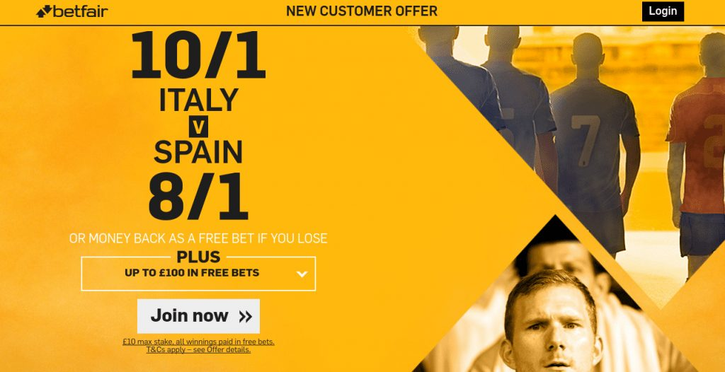 Italy spain betting preview on betfair boylesports betting offerup