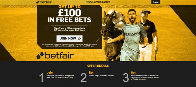 Betfair £100 Offer 1 - Get Up To £100 In Free Bet | BiggestFreeBets.com Exclusive Offer