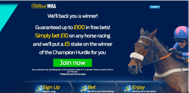 WHGW - Get Up To £100 In Free Bets | William Hill Cheltenham Enhanced Odds Offer