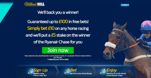 rajaneir - Get Up To £100 In Free Bets | William Hill Cheltenham Enhanced Odds Offer