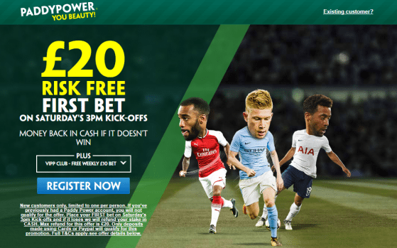 3pm paddy - Get £20 Risk-Free Bet For Saturday's 3PM Games   PaddyPower Premier League Enhanced Odds