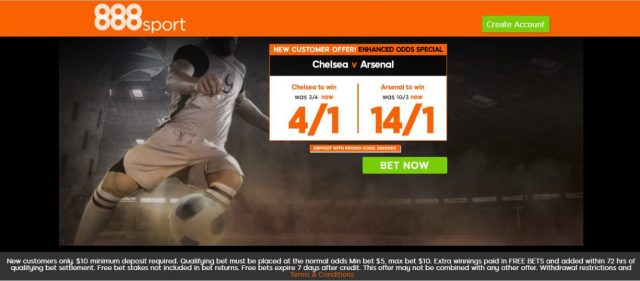 888 che ars - Get 4/1 Chelsea Or 14/1 Arsenal To Win | 888 Sport Enhanced Odds