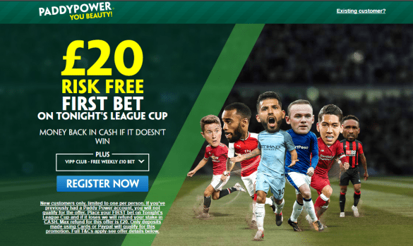 carabao cup paddy - Get £20 Risk-Free Bet For Carabao Cup Games | PaddyPower Carabao Cup Enhanced Odds