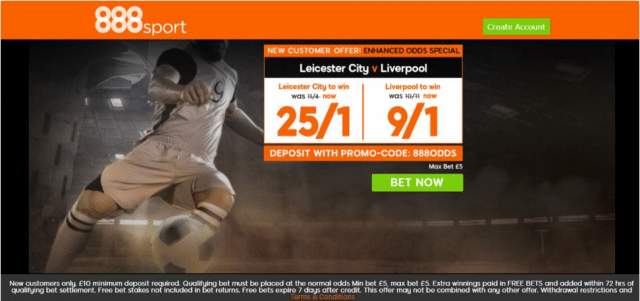 lcfc v lfc - Get 25/1 Leicester or 9/1 Liverpool To Win | 888 Sport Premier League Enhanced Odds