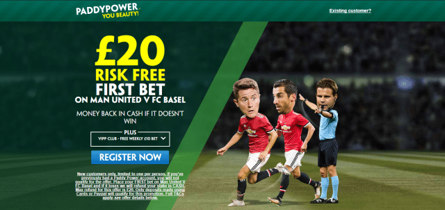 pp mufc v basel - Get £20 Risk-Free Bet For Man Utd v Basel | PaddyPower Champions League Enhanced Odds