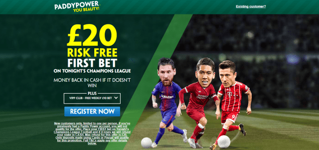 pp ucl - Get £20 Risk-Free Bet For Champions League Tuesday Games | PaddyPower UCL Enhanced Odds