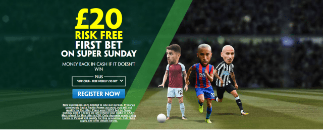 sunday epl 1 - Get £20 Risk-Free Bet For Sunday EPL Games | PaddyPower Premier League Enhanced Odds