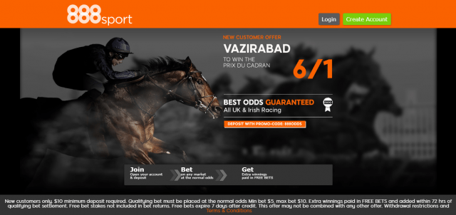vazirabad - Get 6/1 Vazirabad To Win The Prix Du Cadran | 888 Sport Horse Racing Enhanced Odds