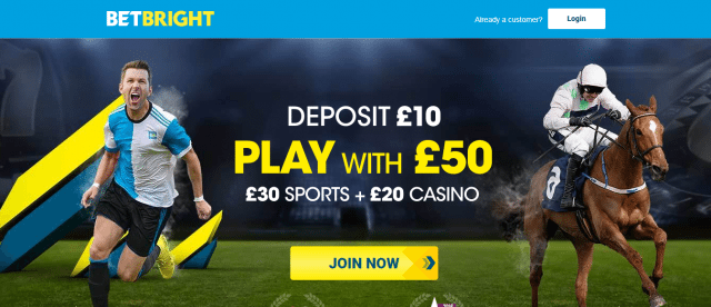 bright1 1 - BetBright's LIMITED TIME Promo – Deposit £10 Get £50