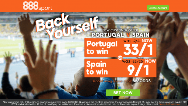 Get 33 1 Portugal Or 9 1 Spain To Win 888 Portugal V Spain Odds
