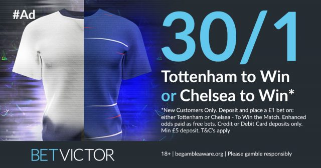 30/1 Spurs or Chelsea to win