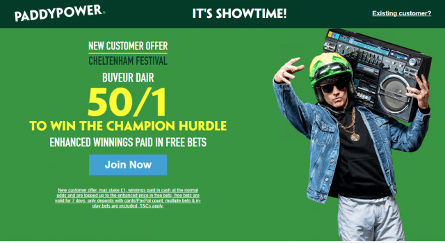 Screenshot 2019 03 07 at 19.51.28 - Get 50/1 Buveur Dair To Win Champion Hurdle | Paddy Power Cheltenham Enhanced Odds Offer