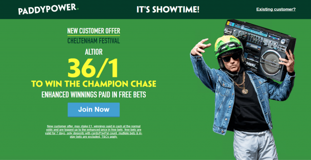 Screenshot 2019 03 07 at 21.07.04 - Get 36/1 Altior To Win Champion Chase | Paddy Power Cheltenham Enhanced Odds Offer