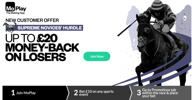 Screenshot 2019 03 11 at 11.50.01 - Get Up To £20 Money Back On Losers | MoPlay Supreme Novices' Hurdle Exclusive Offer