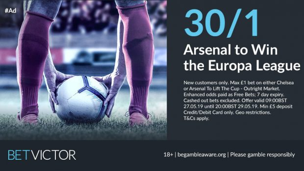 30/1 Arsenal to win Europa League