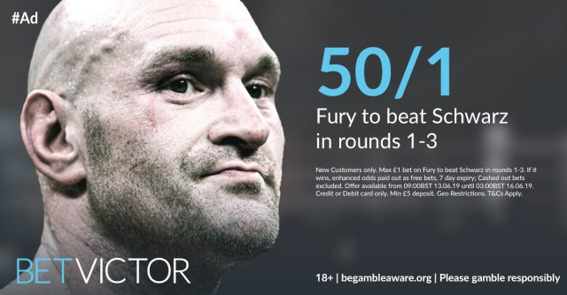 50/1 Fury to win within 3 rounds