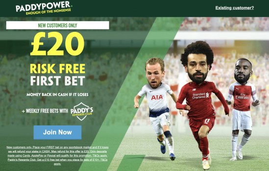 Screenshot 2020 03 04 at 08.41.06 - Paddy Power £20 Free Bet Exclusive - Claim Now!
